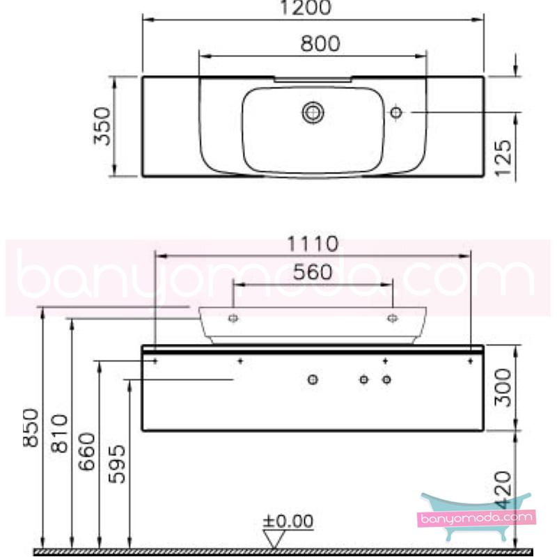 Vitra Shift Dar Lavabo Dolabı (Sığ), 120 cm, Zebrano - 52524 asma termoform kaplama kulplu yavaş kapanır çekmeceli büyük banyo alanlarına ekleyeceğiniz ek ünitelerle banyonun fonksiyonelliği arttırın en uygun fiyatlarla Banyomoda'dan online satın alabilirsiniz.