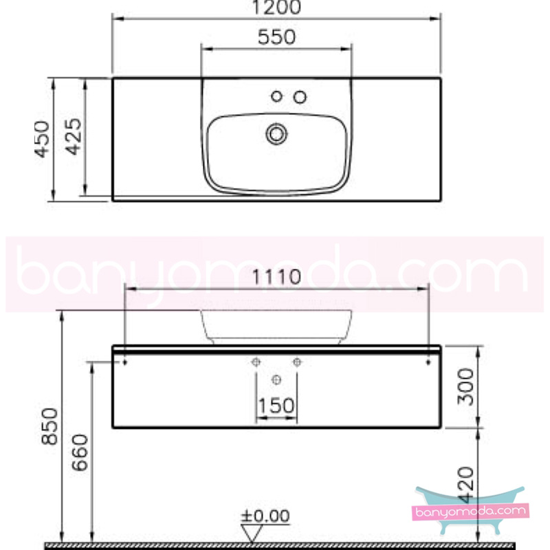 Vitra Shift Geniş Lavabo Dolabı (Sığ), 120 cm, Antrasit - 52557 asma termoform kaplama kulplu yavaş kapanır çekmeceli büyük banyo alanlarına ekleyeceğiniz ek ünitelerle banyonun fonksiyonelliği arttırın en uygun fiyatlarla Banyomoda'dan online satın alabilirsiniz.