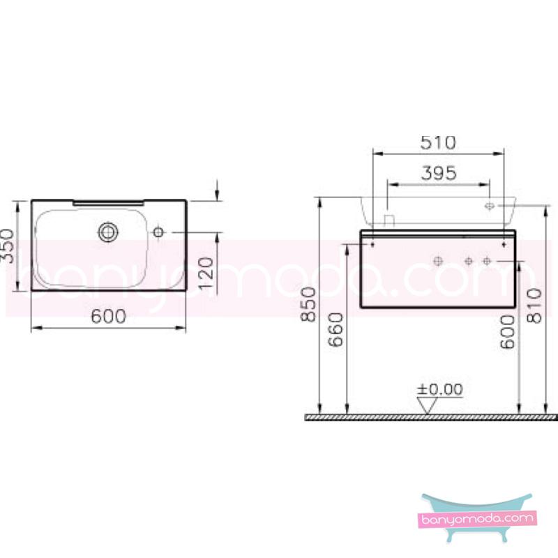 Vitra Shift Dar Lavabo Dolabı (Sığ), 60 cm, Zebrano - 52489 asma termoform kaplama kulplu yavaş kapanır çekmeceli büyük banyo alanlarına ekleyeceğiniz ek ünitelerle banyonun fonksiyonelliği arttırın en uygun fiyatlarla Banyomoda'dan online satın alabilirsiniz.