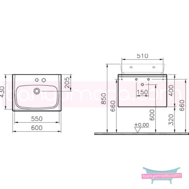 Vitra Shift Geniş Lavabo Dolabı (Derin), 60 cm, Dağ Dokusu - 52560 asma termoform kaplama kulplu yavaş kapanır çekmeceli büyük banyo alanlarına ekleyeceğiniz ek ünitelerle banyonun fonksiyonelliği arttırın en uygun fiyatlarla Banyomoda'dan online satın alabilirsiniz.