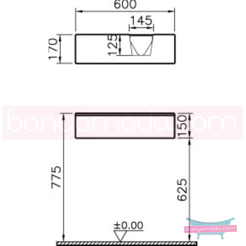 Vitra Shift Asimetrik Dar Lavabo Dolabı (Sığ), (Sağ), 120 cm, Zebrano - 52490 asma termoform kaplama kulplu yavaş kapanır çekmeceli büyük banyo alanlarına ekleyeceğiniz ek ünitelerle banyonun fonksiyonelliği arttırın en uygun fiyatlarla Banyomoda'dan online satın alabilirsiniz.