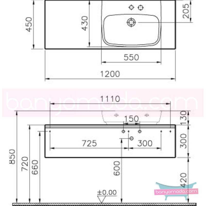 Vitra Shift Asimetrik Geniş Lavabo Dolabı (Sığ), (Sağ), 120 cm, Dağ Dokusu - 52572 asma termoform kaplama kulplu yavaş kapanır çekmeceli büyük banyo alanlarına ekleyeceğiniz ek ünitelerle banyonun fonksiyonelliği arttırın en uygun fiyatlarla Banyomoda'dan online satın alabilirsiniz.