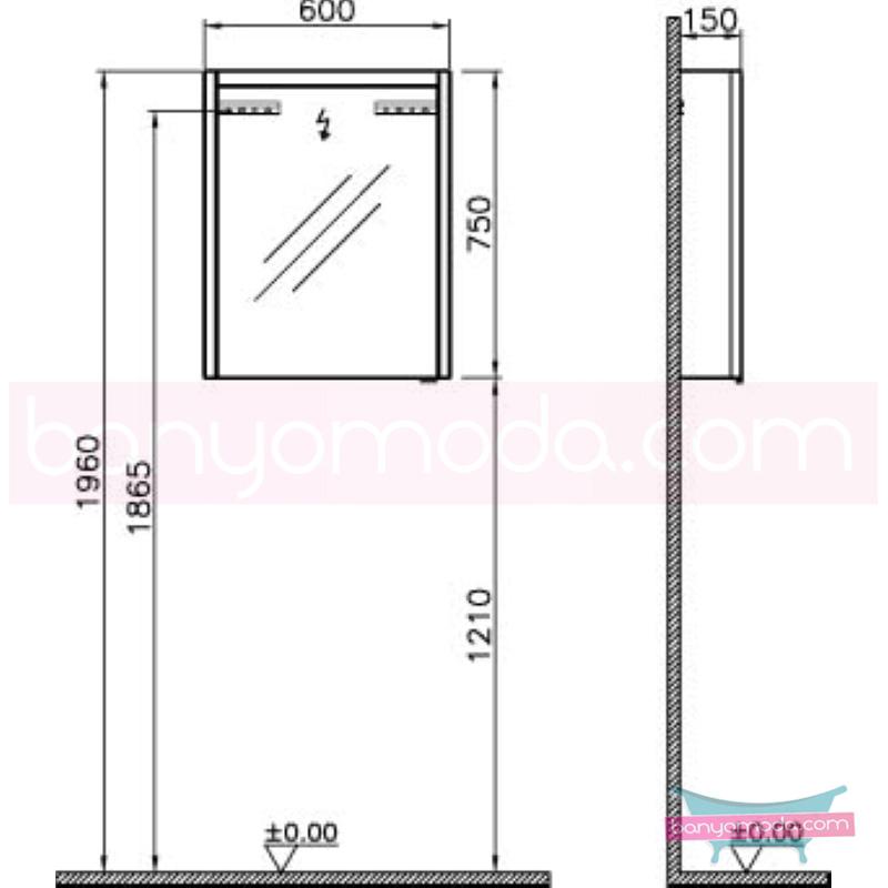 Vitra T4 Aydınlatmalı Dolaplı Ayna (Sol), 60 cm, Hasiente Kahve - 54669 asma termoform kaplama yavaş kapanır sade ve ince görüntsünüyle banyonuza değer katan Noa tasarımlı mobilya en uygun fiyatlarla Banyomoda'dan online satın alabilirsiniz.